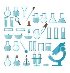 Laboratory equipment set vector