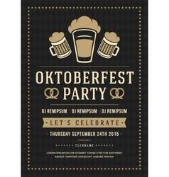 Oktoberfest beer festival poster or flyer template vector