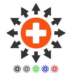 Pharmacy distribution flat icon vector