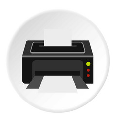printer icon circle vector image vector image