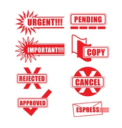 Priority Icons vector image vector image