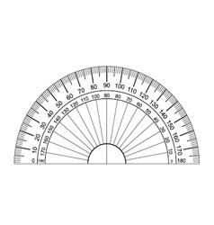 protractor vector image