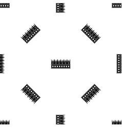 Regal crown pattern seamless black vector