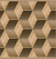 seamless pattern of wooden cubes vector image vector image