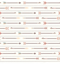 seamless pattern with indian arrows vector image vector image