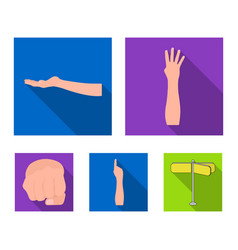 Sign language flat icons in set collection for vector
