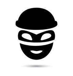 Simple web icon in thief icon vector