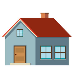 single house painted in gray vector image vector image
