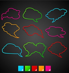 Speech notification paper frames vector image vector image