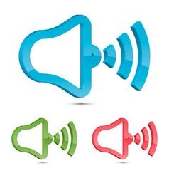 Stylized Speaker Icon vector image