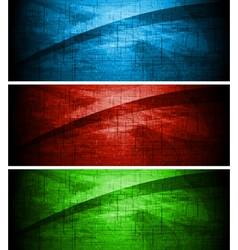 Textural banners vector image vector image