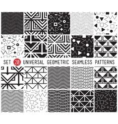 Universal set seamless patterns vector image