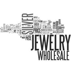 Wholesale silver jewelry text word cloud concept vector