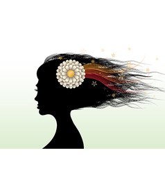 Woman head vector image