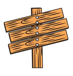 wooden way label icon vector image