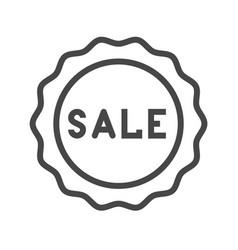 sale badge thin line icon vector image