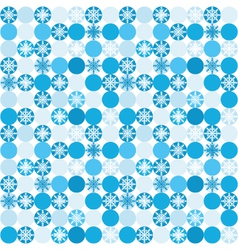 Seamless background with snowflakes in circles vector