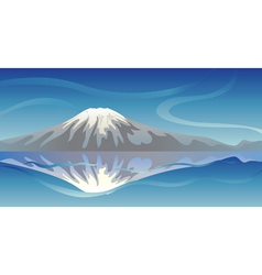 Snow mountain vector