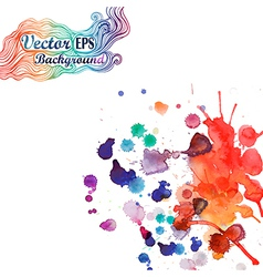 Spray paint watercolor splash background vector