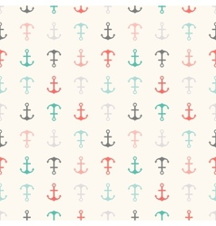 Seamless pattern of anchor shapes endless texture vector