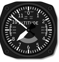 Aviation airplane altimeter vector