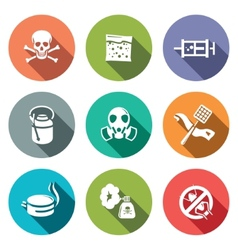 No insects flat icon collection vector