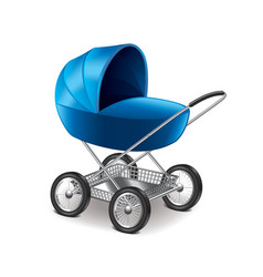Baby stroller isolated vector