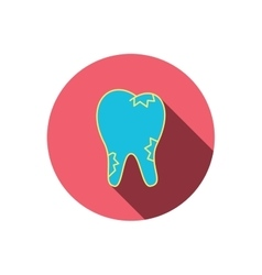 Caries icon tooth health sign vector