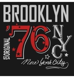 T-shirt printing brooklyn new york usa - vector