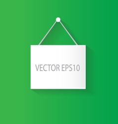 Hanging sign green vector