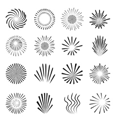 Fireworks set isolated on white background vector