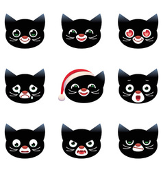 Cartoon smilies cats vector