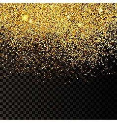 Golden confetti background vector