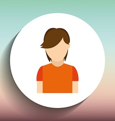 avatar icon design vector image