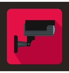 Surveillance camera icon in flat style vector image