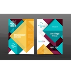 Colorful geometric a4 business print template vector