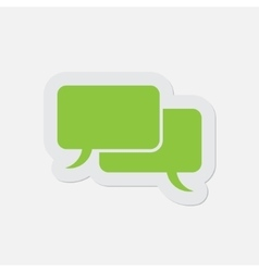 Simple green icon - speech bubbles vector