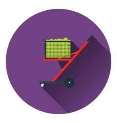Tennis cart ball icon vector