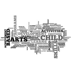 Art based activities text word cloud concept vector
