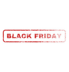 black friday rubber stamp vector image