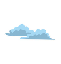 blue cartoon clouds set abstract design vector image
