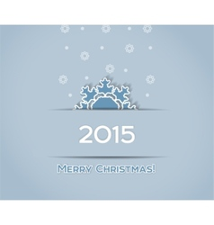 Christmas background snowflake vector image
