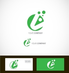 Corporate green abstract circle logo vector