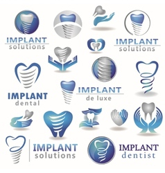 Dental implants vector