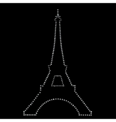 Eiffel tower Paris made up a lot of diamonds vector image vector image