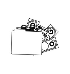 Figure file with money icon vector