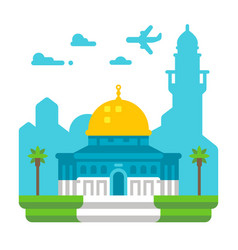 Flat design dome of rock vector