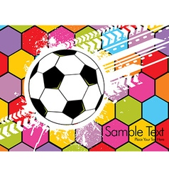 Football attributes on the wall vector image