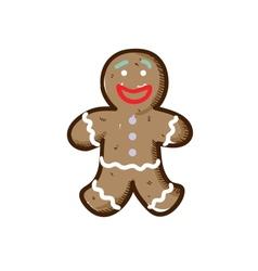 Gingerbread cookie sketch vector image vector image