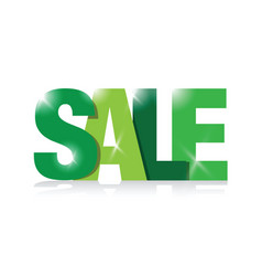 green sales sign vector image